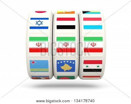 Slots With Flag Of Iran