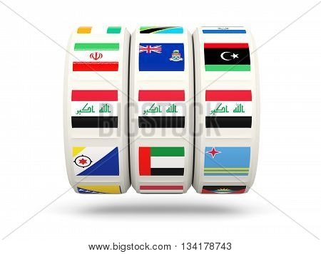 Slots With Flag Of Iraq