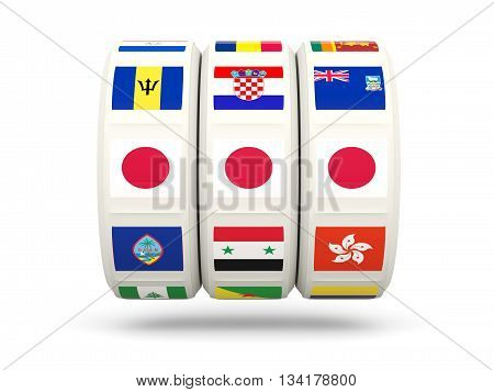 Slots With Flag Of Japan