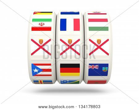 Slots With Flag Of Jersey