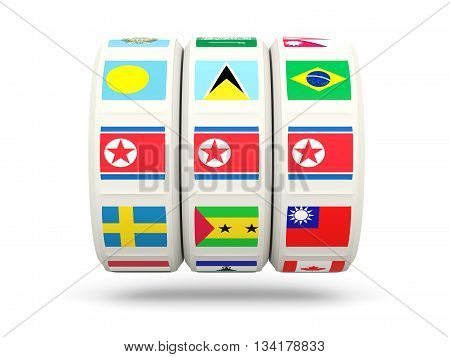 Slots With Flag Of Korea North