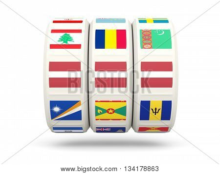 Slots With Flag Of Latvia