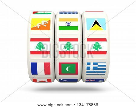 Slots With Flag Of Lebanon