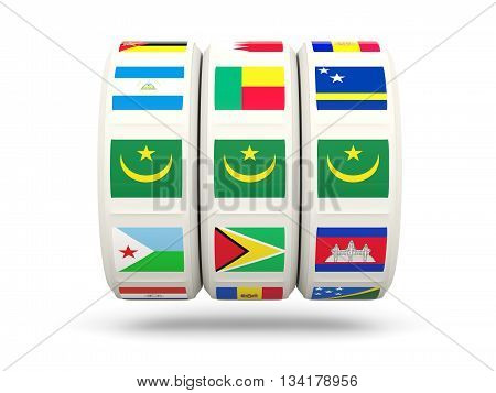 Slots With Flag Of Mauritania