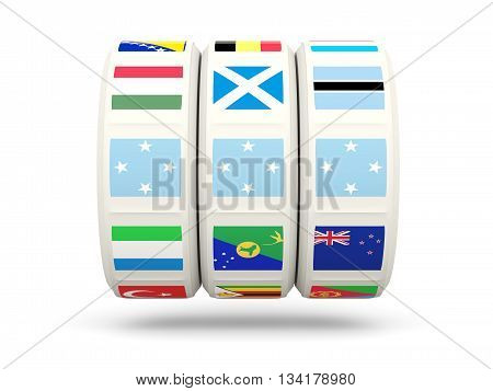 Slots With Flag Of Micronesia