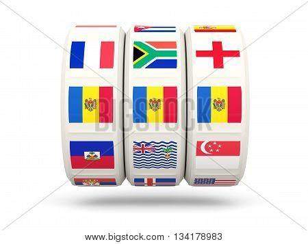 Slots With Flag Of Moldova