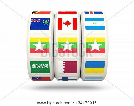 Slots With Flag Of Myanmar
