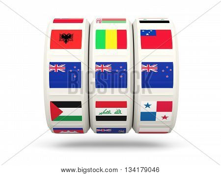Slots With Flag Of New Zealand