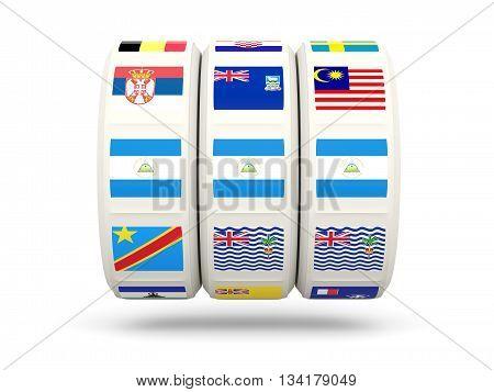 Slots With Flag Of Nicaragua