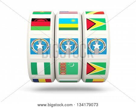 Slots With Flag Of Northern Mariana Islands