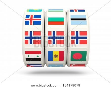 Slots With Flag Of Norway