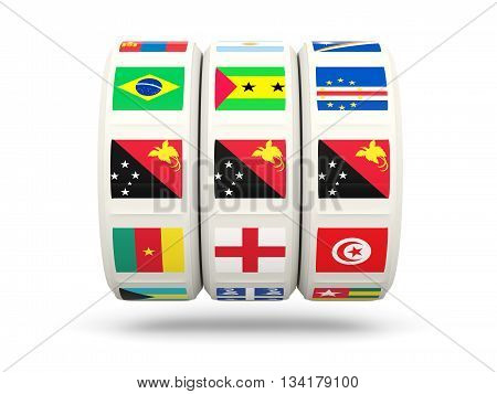 Slots With Flag Of Papua New Guinea