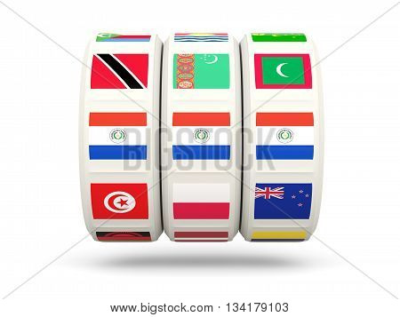 Slots With Flag Of Paraguay