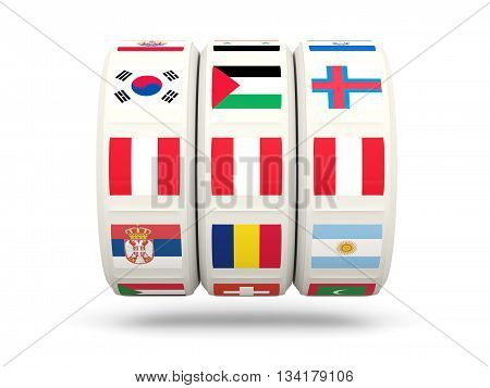 Slots With Flag Of Peru
