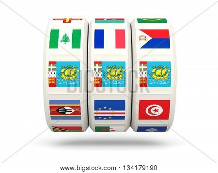Slots With Flag Of Saint Pierre And Miquelon