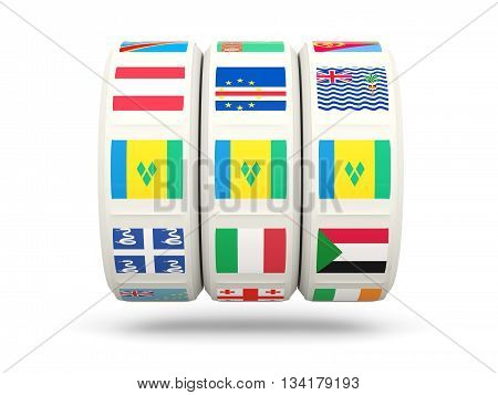 Slots With Flag Of Saint Vincent And The Grenadines