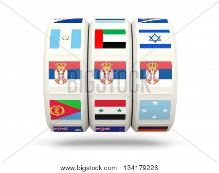 Slots With Flag Of Serbia