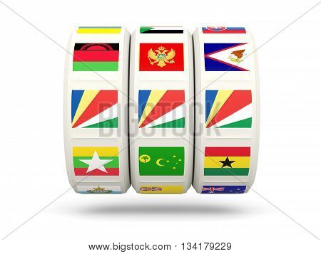 Slots With Flag Of Seychelles