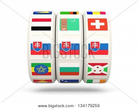 Slots With Flag Of Slovakia