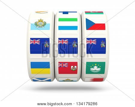 Slots With Flag Of South Georgia And The South Sandwich Islands