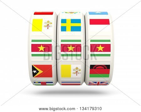 Slots With Flag Of Suriname