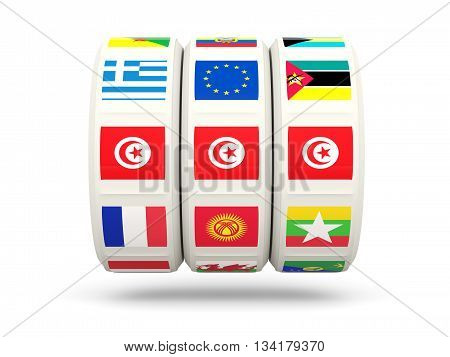 Slots With Flag Of Tunisia