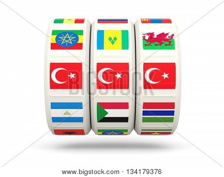 Slots With Flag Of Turkey