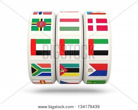 Slots With Flag Of United Arab Emirates