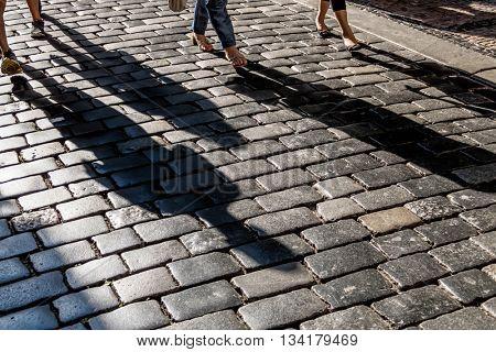 shadows on pavement