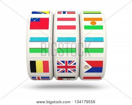 Slots With Flag Of Uzbekistan