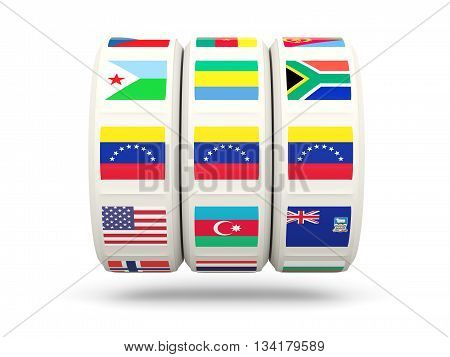 Slots With Flag Of Venezuela