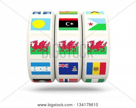 Slots With Flag Of Wales