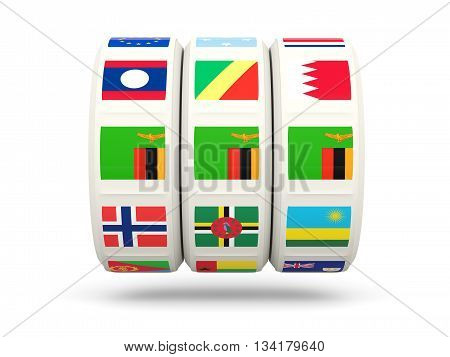 Slots With Flag Of Zambia