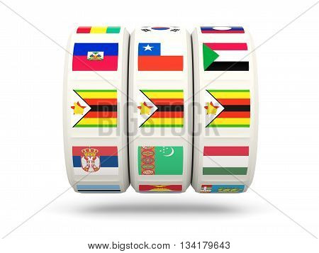 Slots With Flag Of Zimbabwe