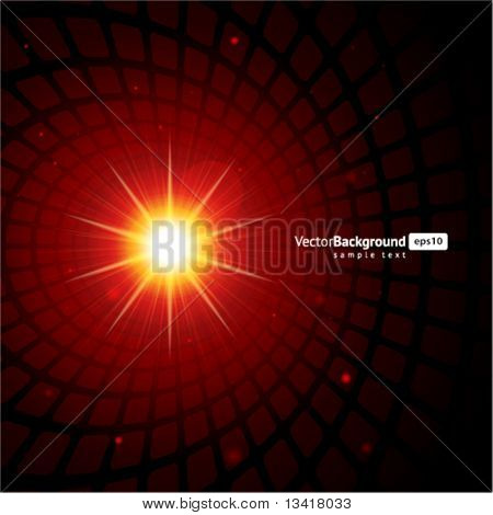 Lens flare vector background