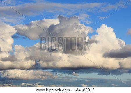 Big clouds in blue sky