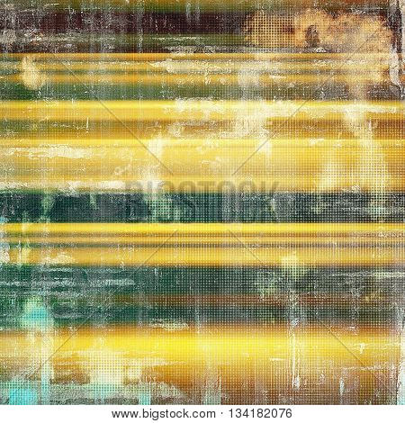 Grunge background or texture with vintage frame design and different color patterns: yellow (beige); brown; green; gray; cyan