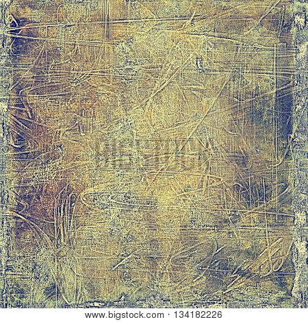 Grunge background or texture with vintage frame design and different color patterns: yellow (beige); brown; blue; gray; purple (violet)