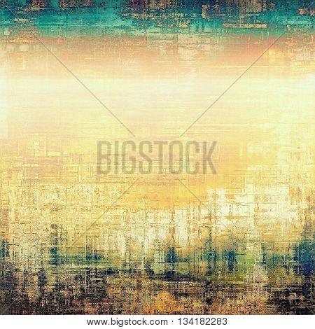 Retro design on grunge background or aged faded texture. With different color patterns: yellow (beige); brown; green; blue; cyan; white