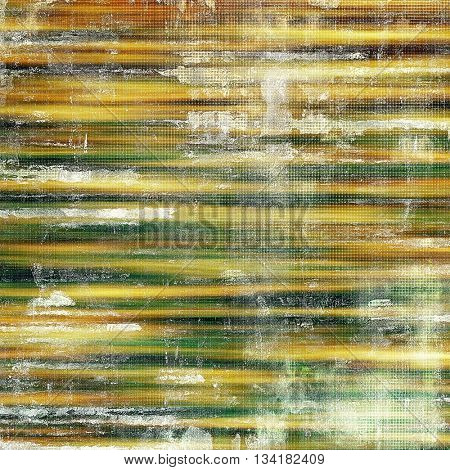 Old grunge vintage background or shabby texture with different color patterns: yellow (beige); brown; green; gray; red (orange); white