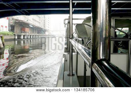 Sightseeing Boat Under Bridge In Tokyo, Japan