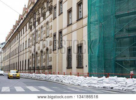 PRAGUE, CZECH REPUBLIC - JUNE 6, 2013: Floods in Prague