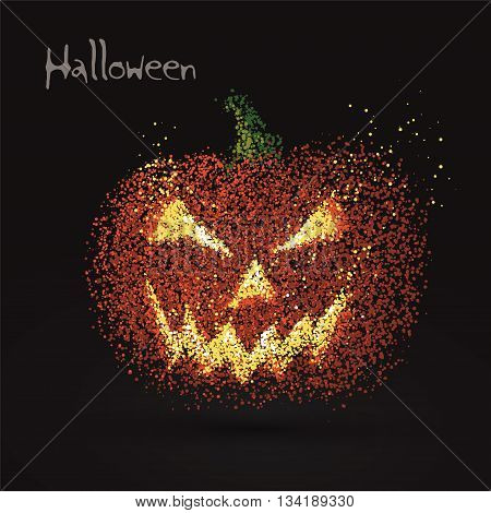 Grimace pumpkin particles it ,can be used for Halloween vector illustration.