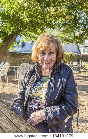 Portrait Of Attractive Elderly Lady