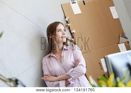 Job, work. Girl in the office