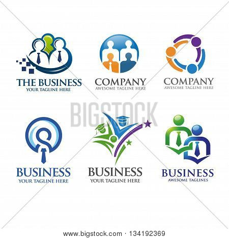 creative people business and leadership logo vector