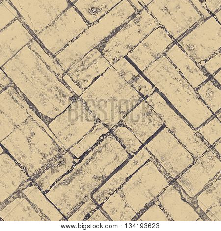 Abstract creative background from brick floor pattern with filtered color.