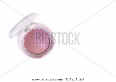 Beautiful Pink Color Blusher Makeup
