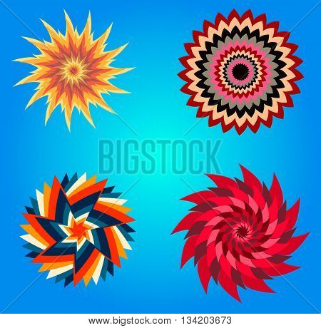Paper Sun and Clod on blue background