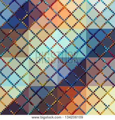 Seamless background pattern. Grunge plaid diagonal geometric pattern.